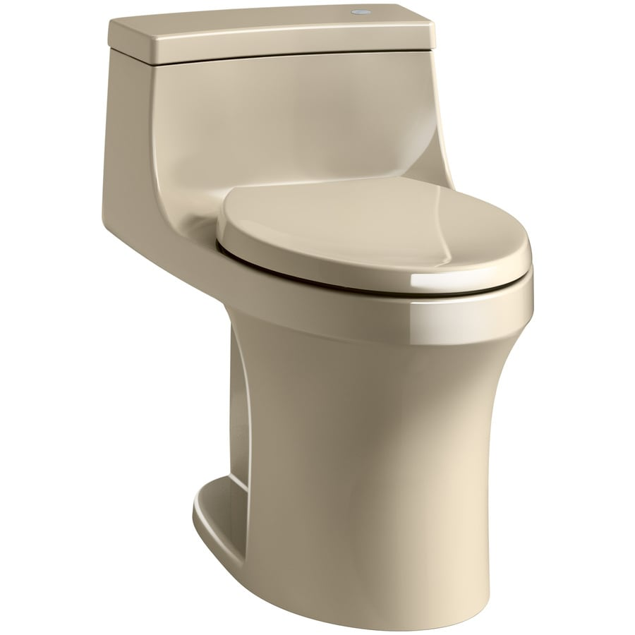 KOHLER San Souci 1.28-GPF (4.85-LPF) Mexican sand Compact Elongated Chair Height 1-piece Toilet
