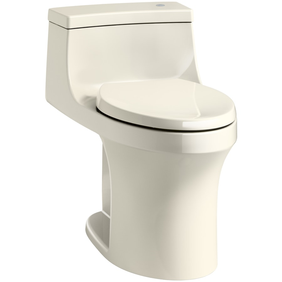 KOHLER San Souci Almond WaterSense Labeled  Compact Elongated Chair Height 1-piece Toilet 12-in Rough-In Size