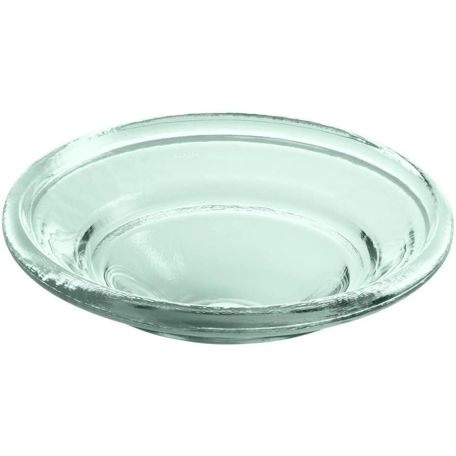 KOHLER Artist Editions Spun Glass Translucent Dew Glass Drop-in Round Bathroom Sink
