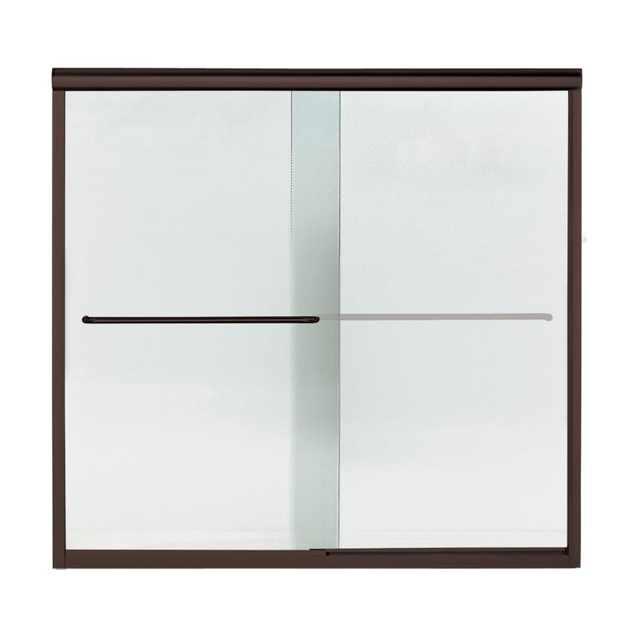 Sterling Finesse 59.25-in W x 58.75-in H Frameless Bathtub Door