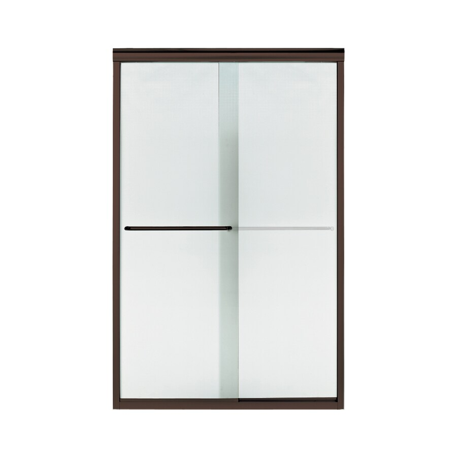 Sterling Finesse 44-in to 45.5-in W Frameless Deep Bronze Sliding Shower Door