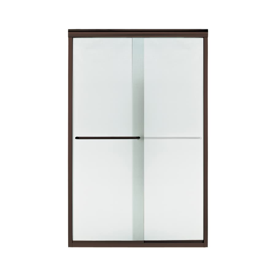 Sterling Finesse 45.75-in to 47.25-in W Frameless Deep Bronze Sliding Shower Door