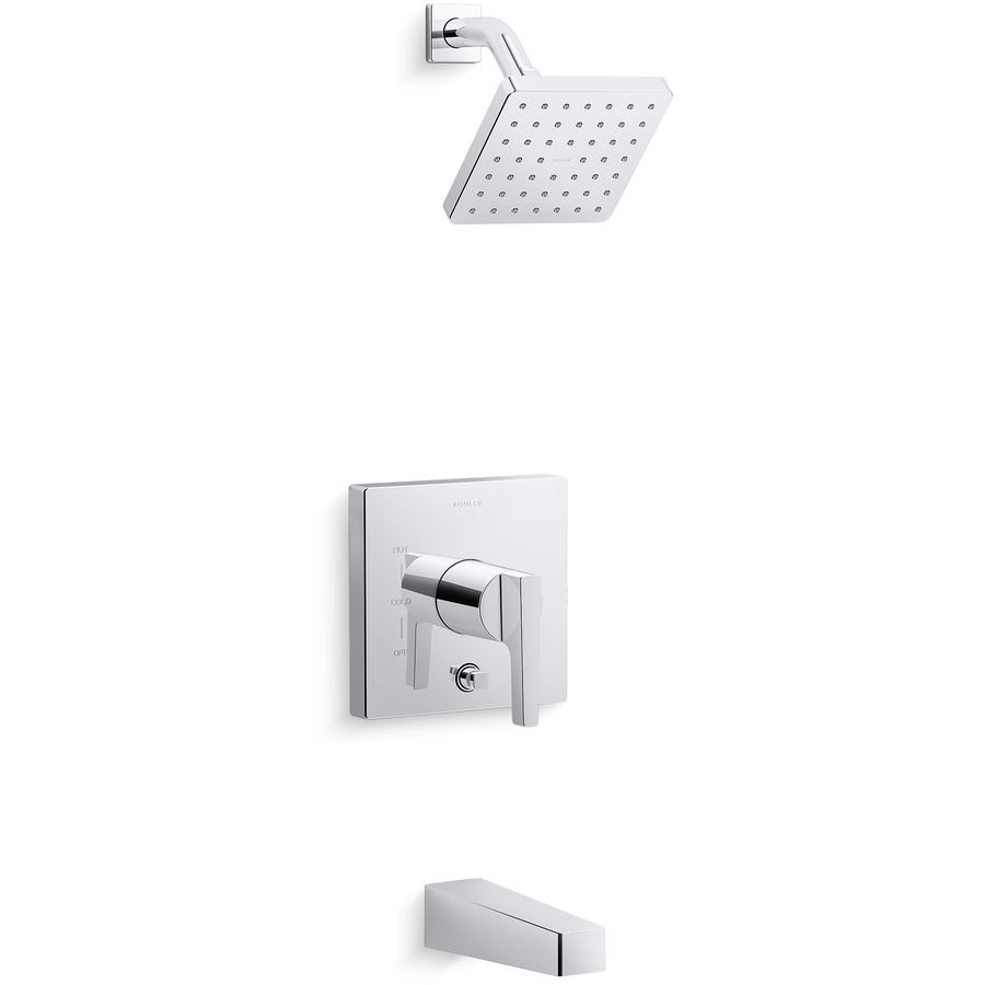 Shop KOHLER Polished Chrome 1 Handle Bathtub And Shower Faucet At