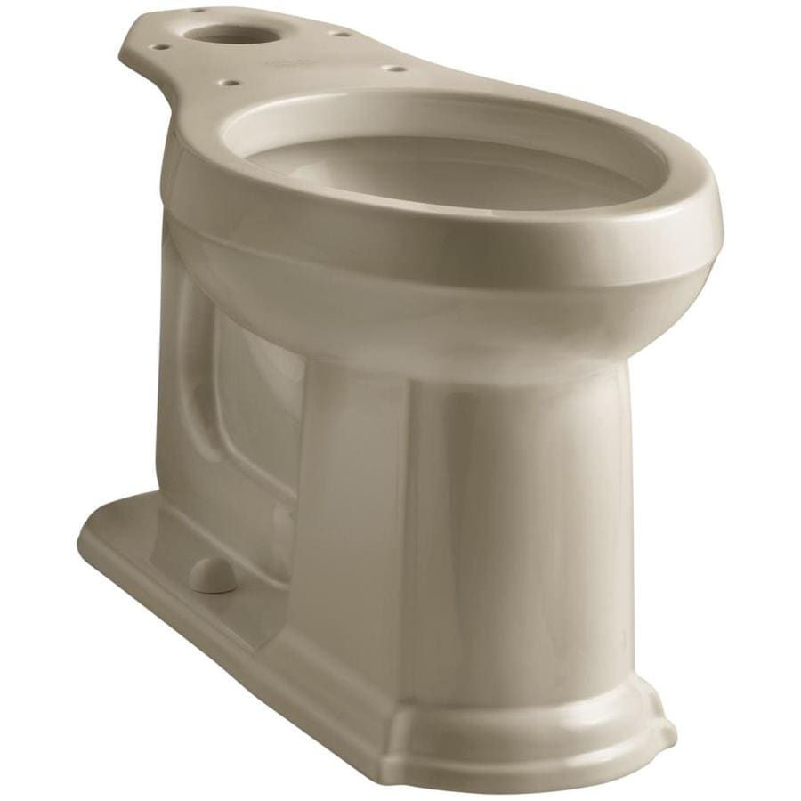 KOHLER Devonshire Standard Height Mexican Sand 12 Rough-In Pressure Assist Elongated Toilet Bowl