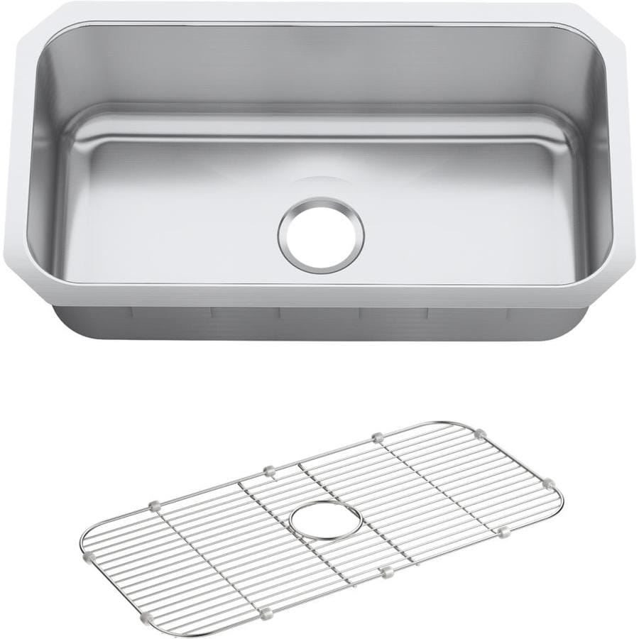 KOHLER Undertone Perserve 16.625-in x 16.625-in Single-Basin Stainless Steel Drop-in Residential Kitchen Sink