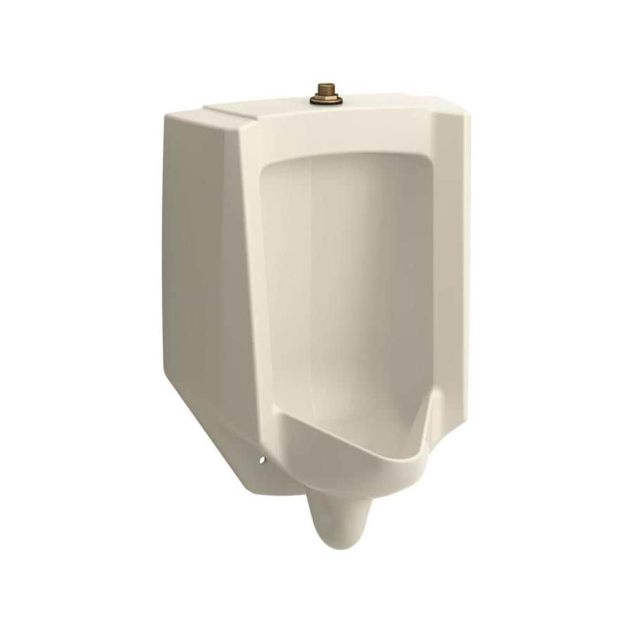 KOHLER 14.1250-in W x 26.8750-in H Almond Wall-Mounted WaterSense Urinal