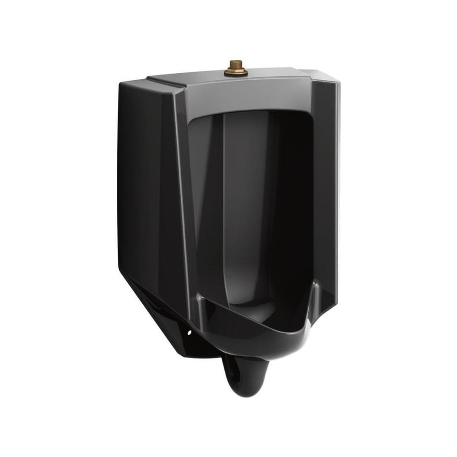 KOHLER 14.125-in W x 26.875-in H Black Wall-mounted WaterSense Urinal