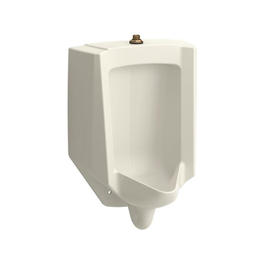 KOHLER 14.125-in W x 26.875-in H Biscuit Wall-mounted WaterSense Urinal