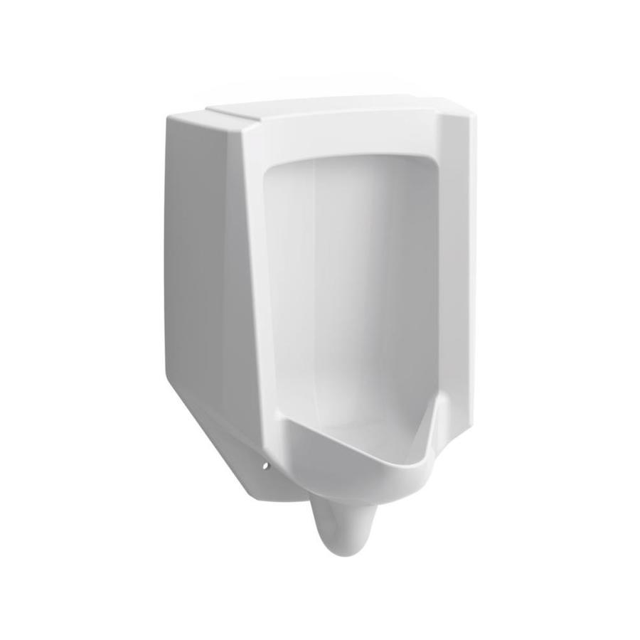 KOHLER 14.125-in W x 26.875-in H White Wall-Mounted WaterSense Urinal