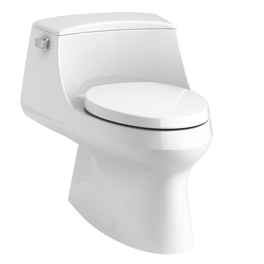 KOHLER San Rapheal White WaterSense Labeled  Elongated Standard Height 1-piece Toilet 12-in Rough-In Size