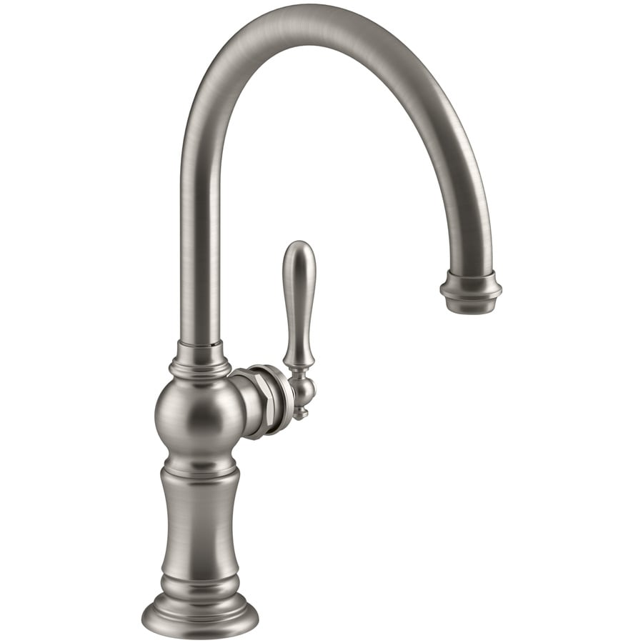 KOHLER Artifacts Vibrant Stainless 1-Handle High-Arc Kitchen Faucet