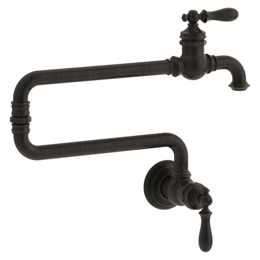Shop kohler artifacts oil rubbed bronxe 1 handle wall Pot filler faucet