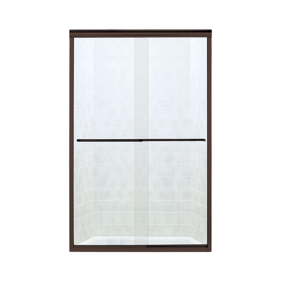 Sterling Finesse 44-in to 45.5-in W x 70.3125-in H Deep Bronze Sliding Shower Door