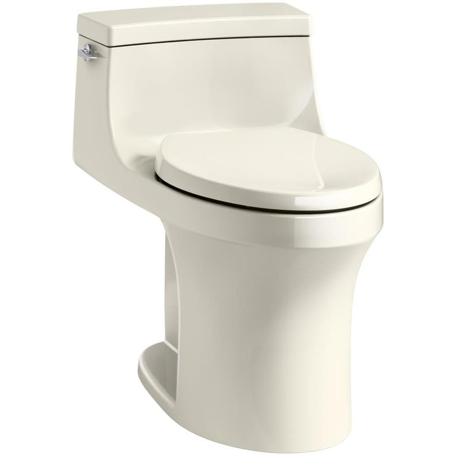 KOHLER San Souci Almond WaterSense Labeled  Compact Elongated Standard Height 1-piece Toilet 12-in Rough-In Size
