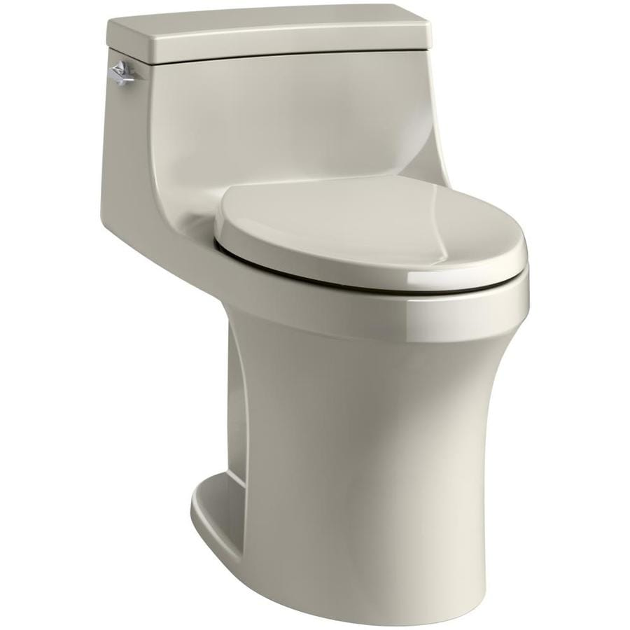 KOHLER San Souci 1.28 Sandbar WaterSense Compact Elongated Standard Height 1-Piece Toilet