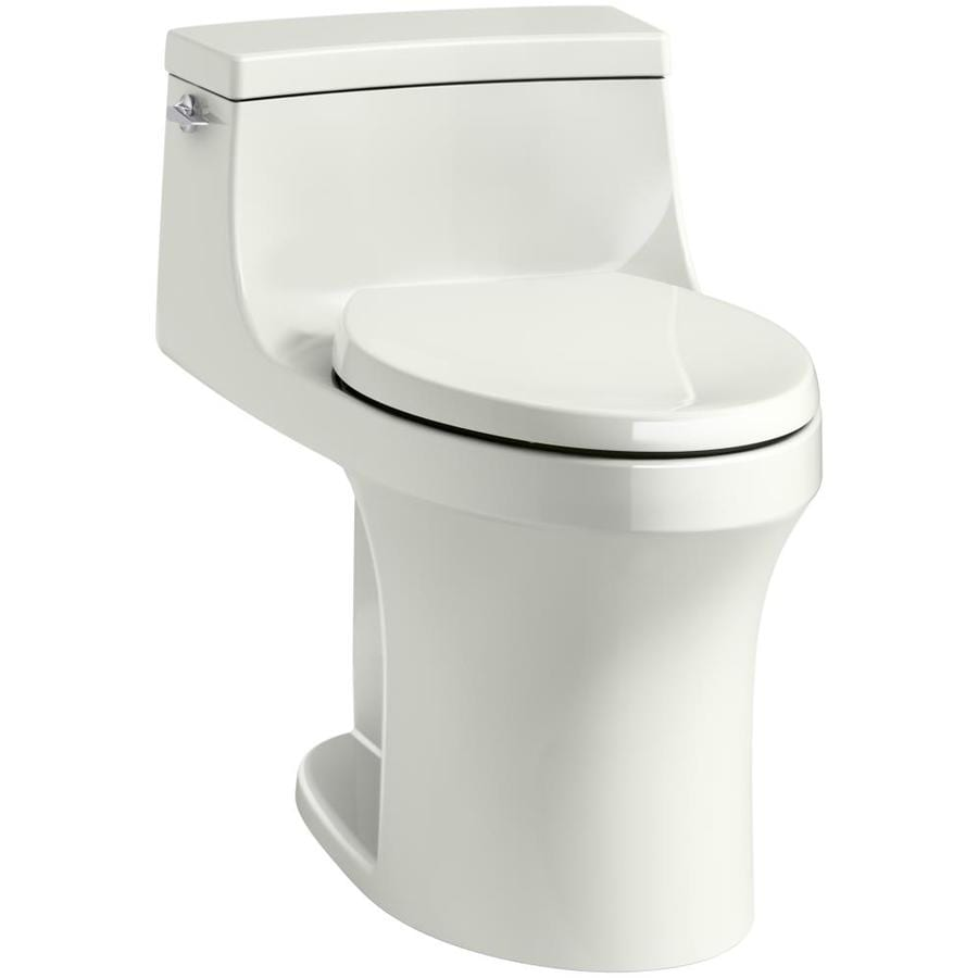KOHLER San Souci Dune WaterSense Labeled  Compact Elongated Standard Height 1-piece Toilet 12-in Rough-In Size
