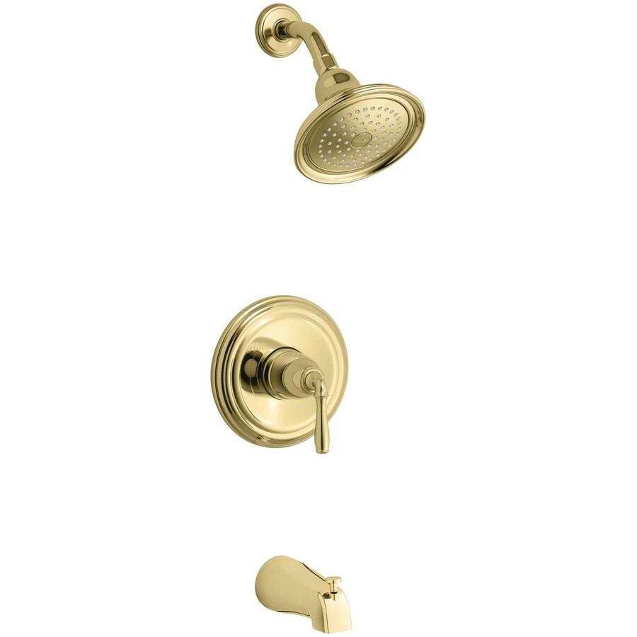 KOHLER Devonshire® Rite-Temp® Bath and Shower Valve Trim with Lever Handle, Npt Spout and 2.5 -GPM Showerhead