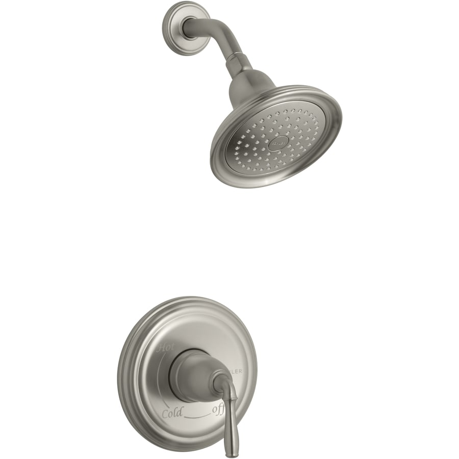 Shop KOHLER Devonshire Vibrant Brushed Nickel 1-Handle Shower Faucet ...