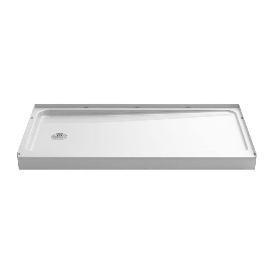 sterling ensemble white vikrell shower base common 60in w x 32