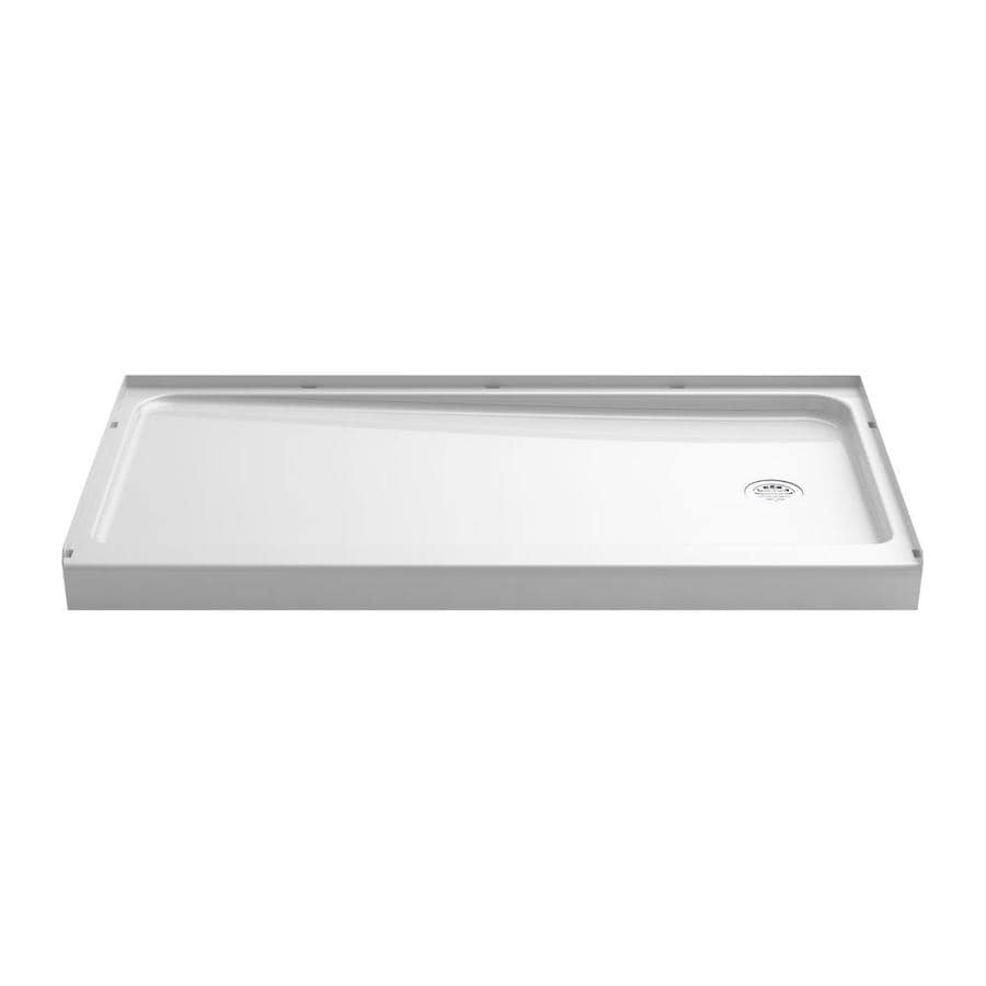 Sterling Ensemble White Vikrell Shower Base (Common: 60-in W x 32-in L; Actual: 60-in W x 32-in L)