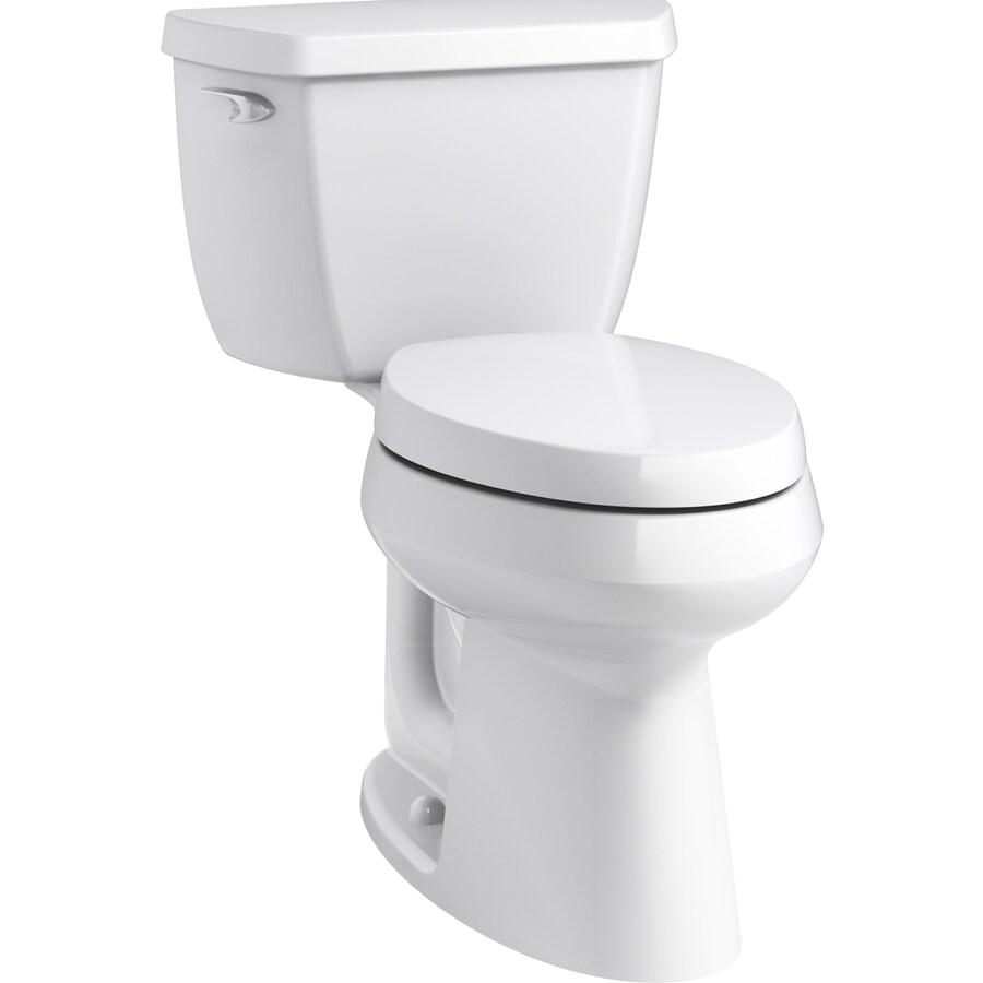 KOHLER Purefresh 1.28-GPF (4.85-LPF) White WaterSense Elongated Chair Height 2-Piece Toilet