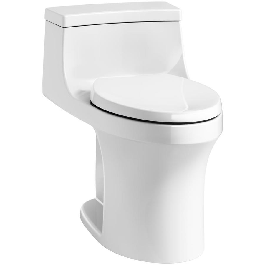 KOHLER San Souci 1.28-GPF (4.85-LPF) White WaterSense Compact Elongated Standard Height 1-Piece Toilet