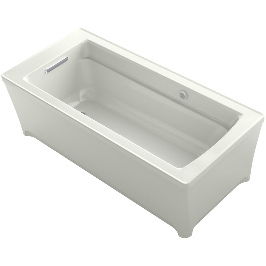 KOHLER Archer Dune Acrylic Rectangular Freestanding Bathtub with Reversible Drain (Common: 32-in x 62-in; Actual: 22.0000-in x 31.7500-in x 61.7500-in)