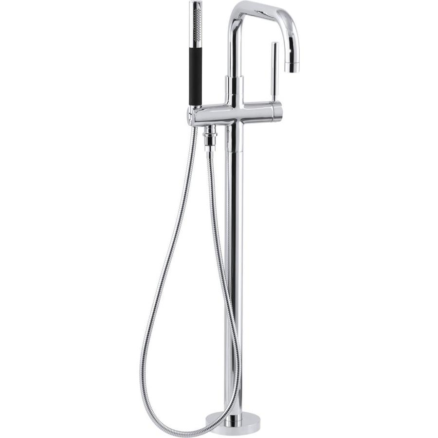 KOHLER Purist Polished Chrome 1-Handle Fixed Deck Mount Bathtub Faucet