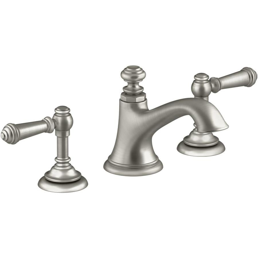 Shop KOHLER Artifacts Widespread 2-Handle Bathroom Faucet with Bell ...