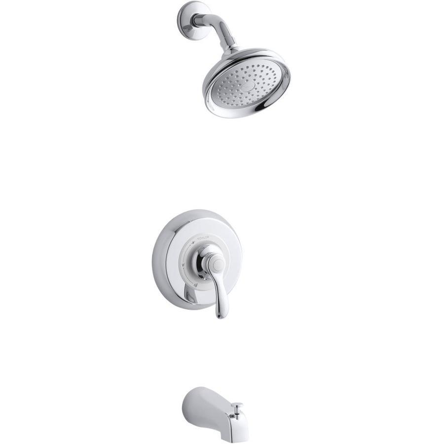 KOHLER Fairfax Polished Chrome 1-Handle Bathtub and Shower Faucet