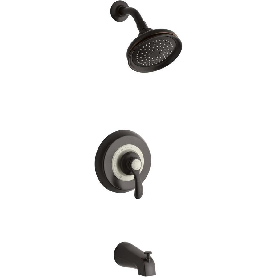KOHLER Fairfax Oil-Rubbed Bronze 1-Handle Bathtub and Shower Faucet