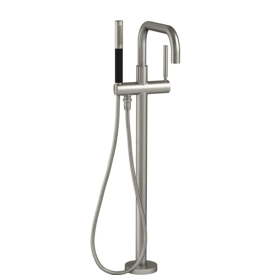 KOHLER Purist Vibrant Brushed Nickel 1-Handle Deck Mount Bathtub Faucet