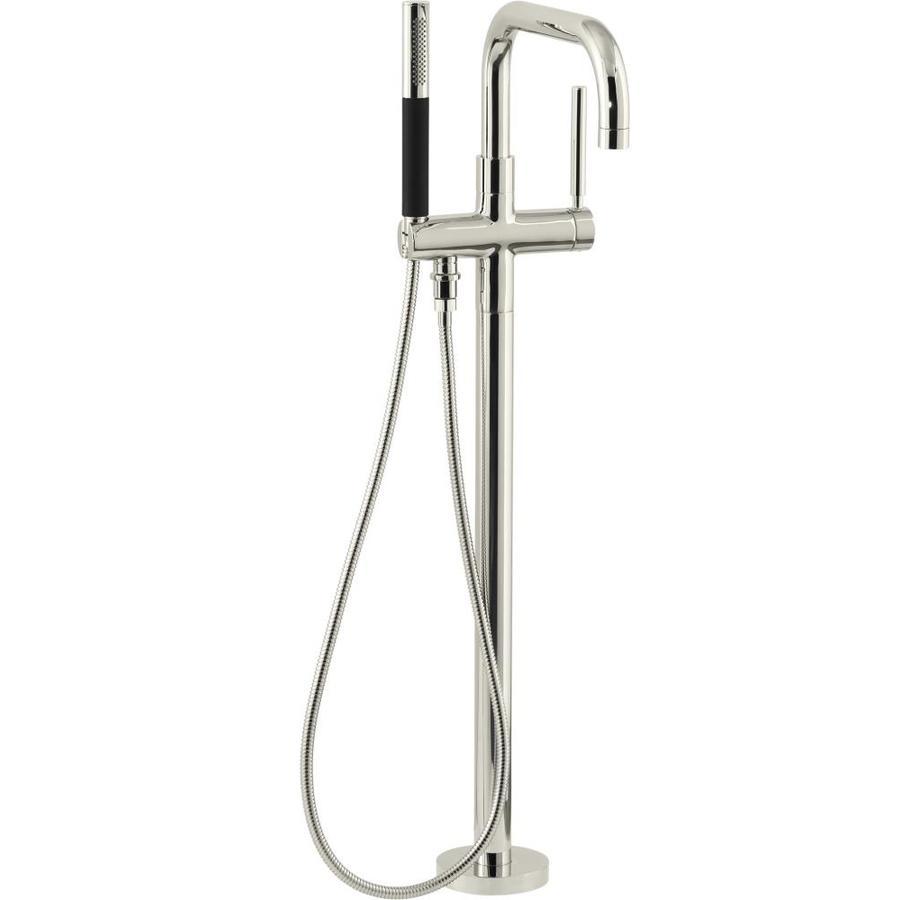 KOHLER Purist Vibrant Polished Nickel 1-Handle Deck Mount Bathtub Faucet