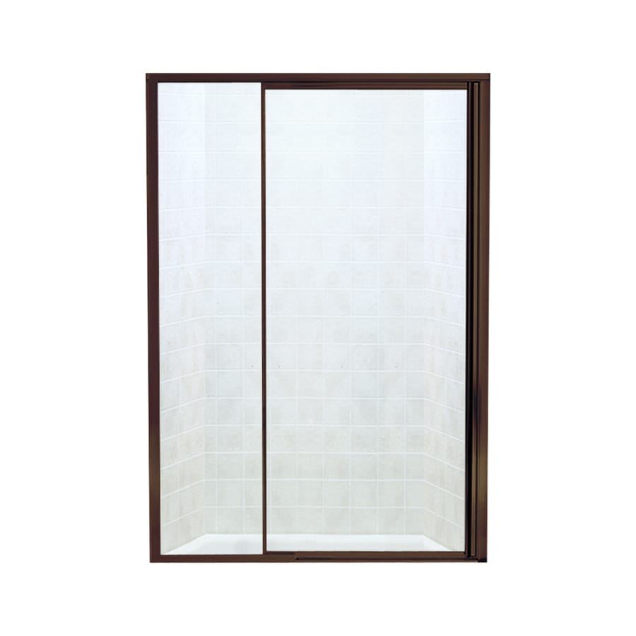 Sterling Vista Pivot II 42-in to 48-in W Framed Deep Bronze Pivot Shower Door