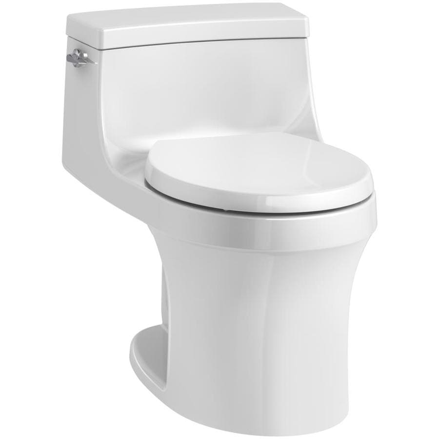 Kohler San Souci White Watersense Labeled Round Standard Height 1