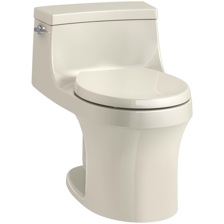 KOHLER San Souci 1.28 Almond WaterSense Round Standard Height 1-Piece Toilet