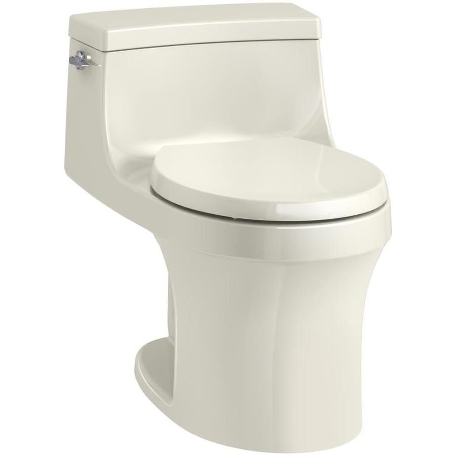 KOHLER San Souci 1.28-GPF Biscuit WaterSense Round Standard Height 1-Piece Toilet