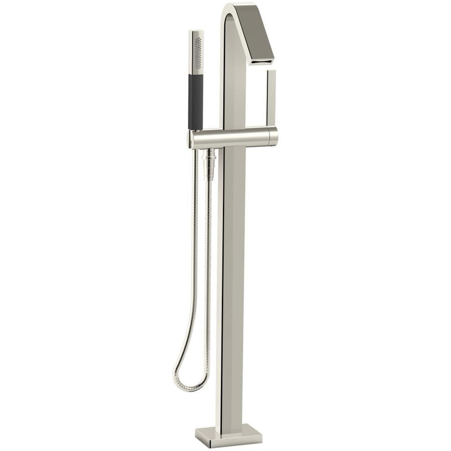 KOHLER Loure Vibrant Polished Nickel 1-handle Fixed Freestanding Bathtub Faucet