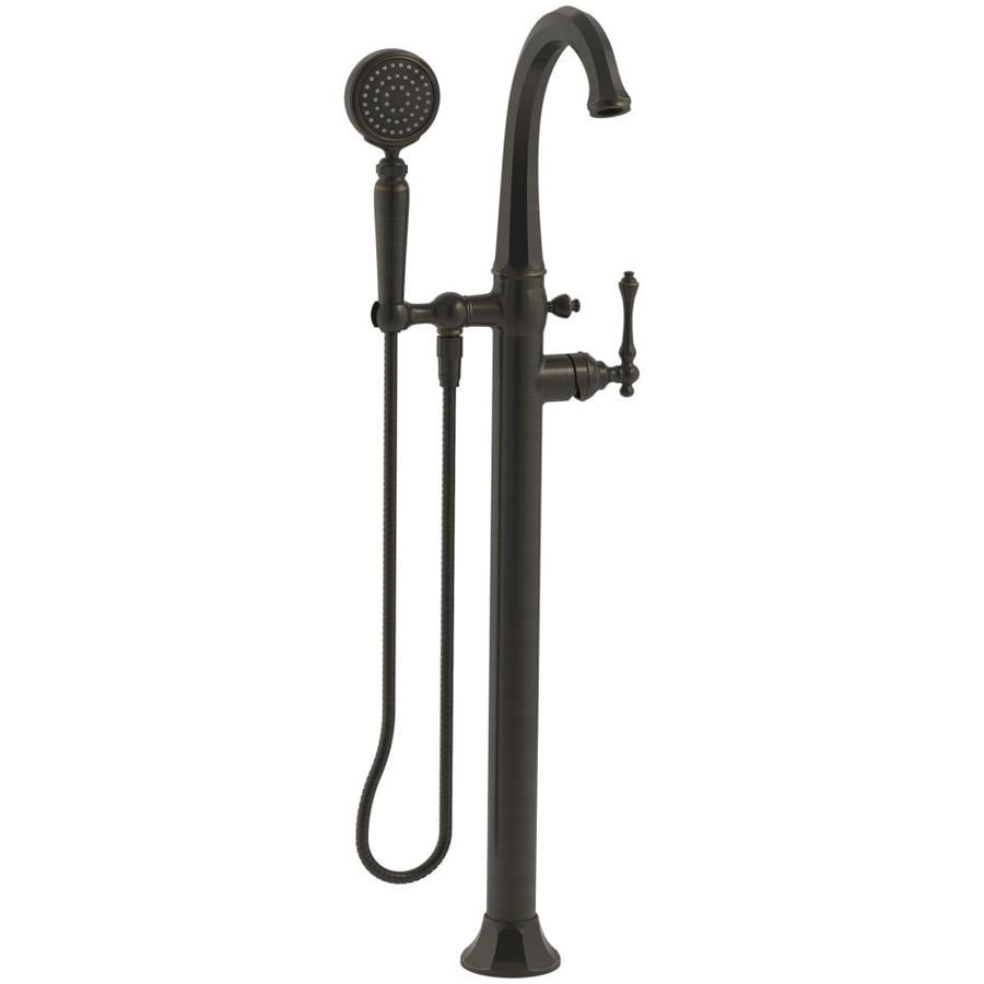 Shop KOHLER Kelston Oil-Rubbed Bronze 1-handle Fixed Freestanding ...