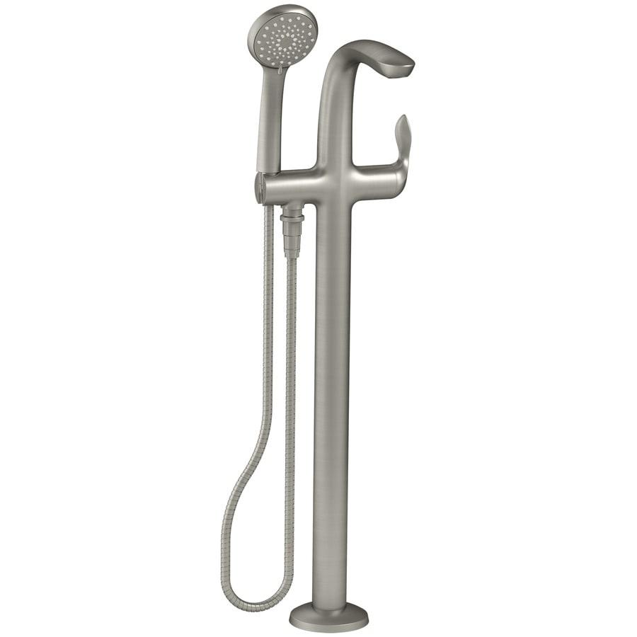 KOHLER Refinia Vibrant Brushed Nickel 1-handle Fixed Freestanding Bathtub Faucet