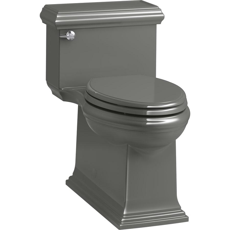 KOHLER Memoirs 1.28-GPF (4.85-LPF) Thunder Grey Compact Elongated Chair Height 1-piece Toilet