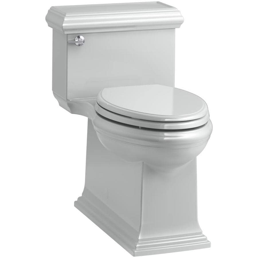 KOHLER Memoirs 1.28 Ice Grey WaterSense Compact Elongated Chair Height 1-Piece Toilet