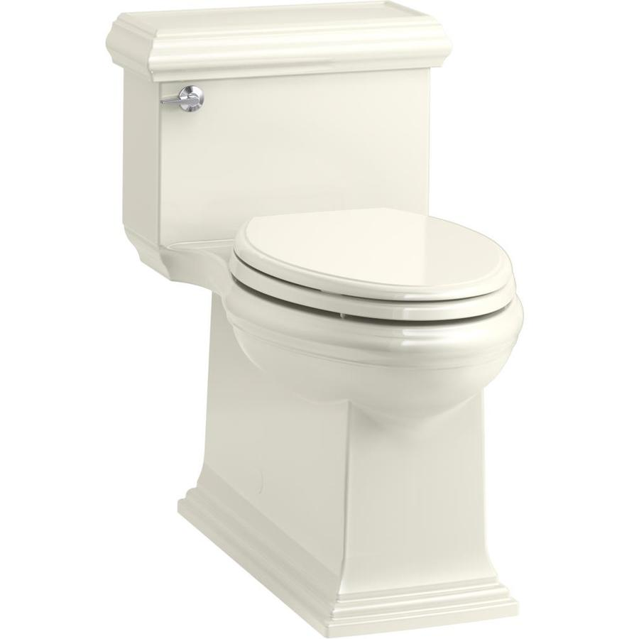 KOHLER Memoirs Biscuit WaterSense Labeled  Compact Elongated Chair Height 1-piece Toilet 12-in Rough-In Size
