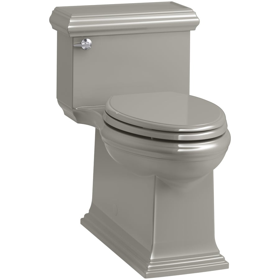 KOHLER Memoirs 1.28 Cashmere WaterSense Compact Elongated Chair Height 1-Piece Toilet