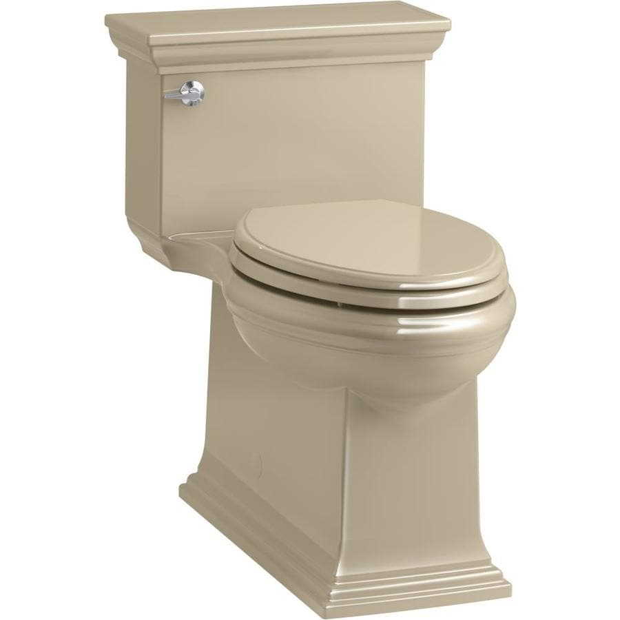 KOHLER Memoirs Mexican Sand WaterSense Labeled  Compact Elongated Chair Height 1-piece Toilet 12-in Rough-In Size