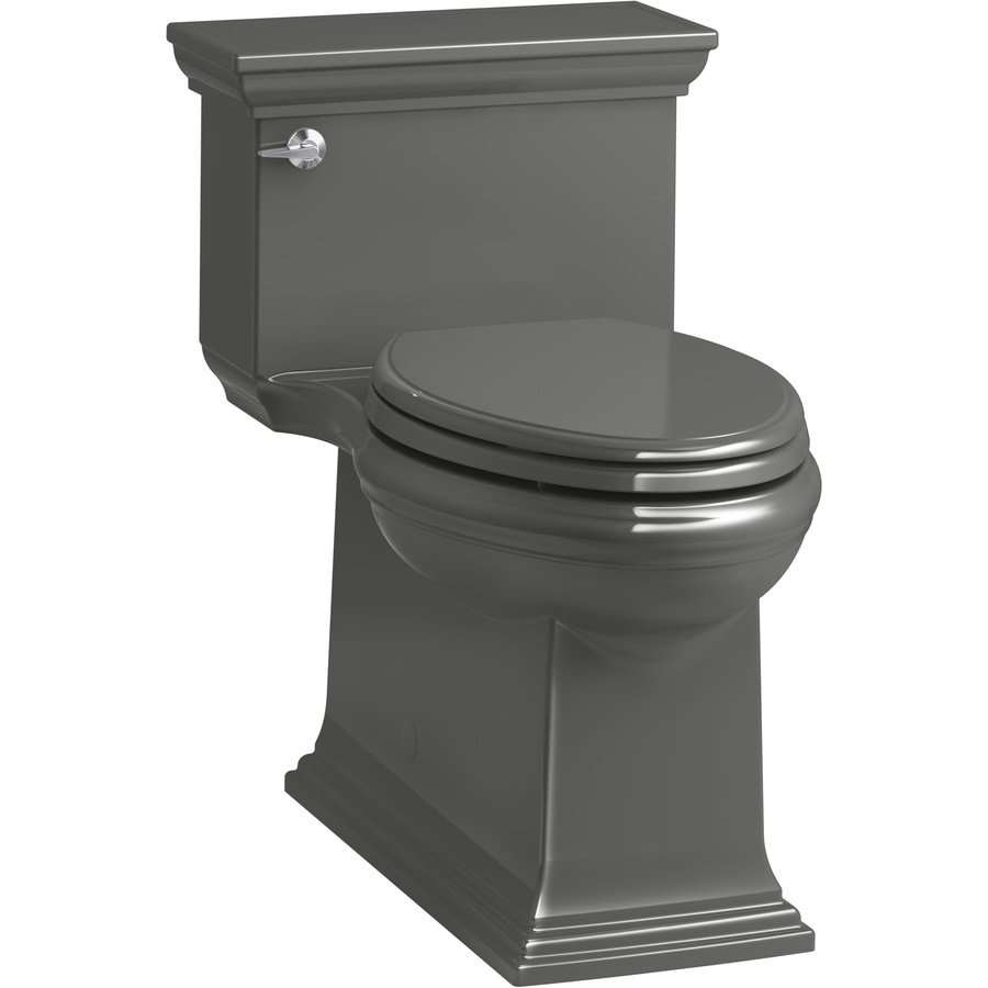 KOHLER Memoirs Thunder Grey WaterSense Labeled  Compact Elongated Chair Height 1-piece Toilet 12-in Rough-In Size