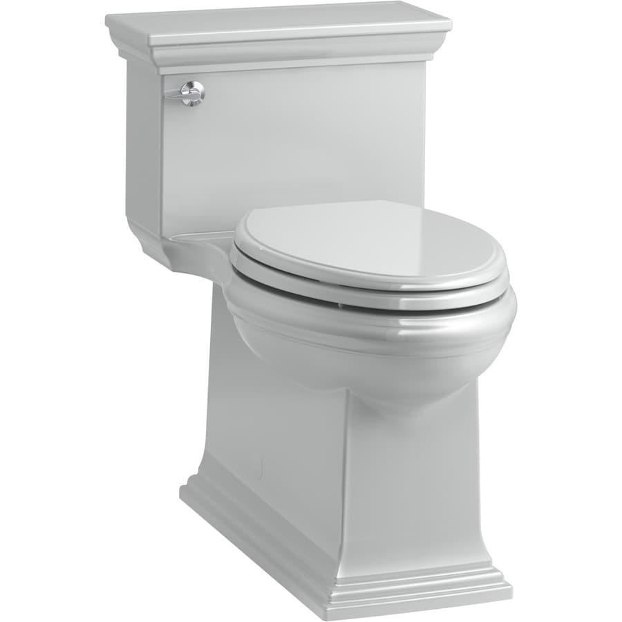 KOHLER Memoirs 1.28-GPF (4.85-LPF) Ice Grey WaterSense Compact Elongated Chair Height 1-Piece Toilet