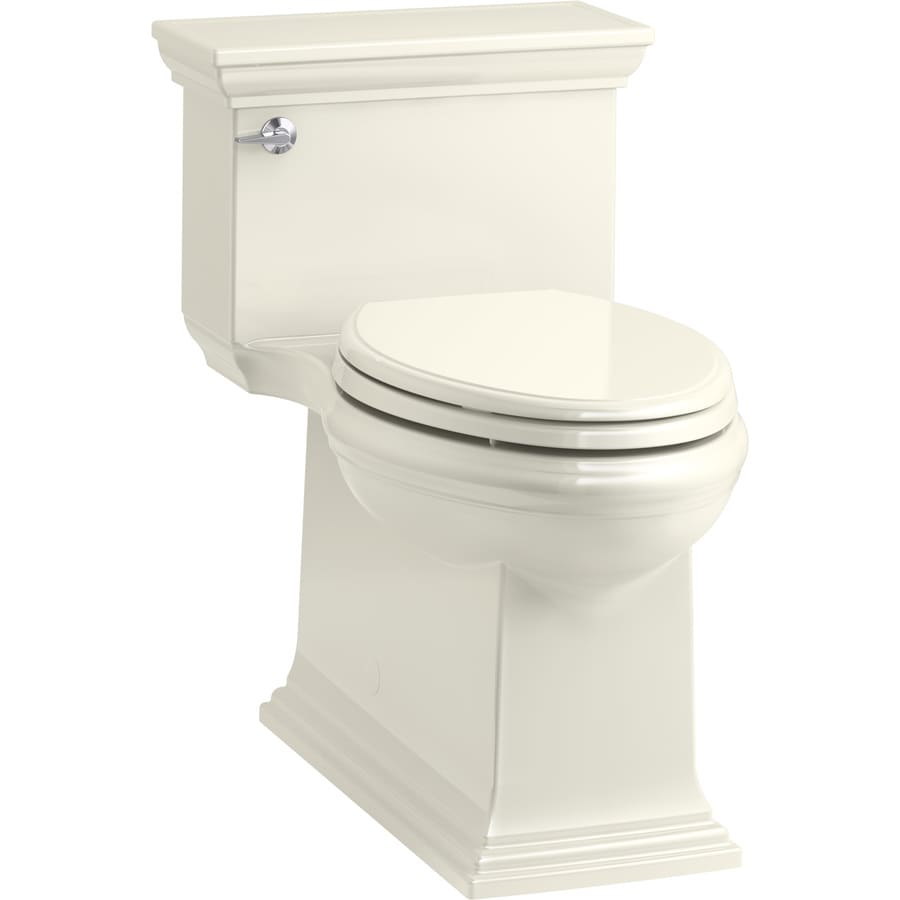 KOHLER Memoirs 1.28-GPF (4.85-LPF) Biscuit Compact Elongated Chair Height 1-piece Toilet