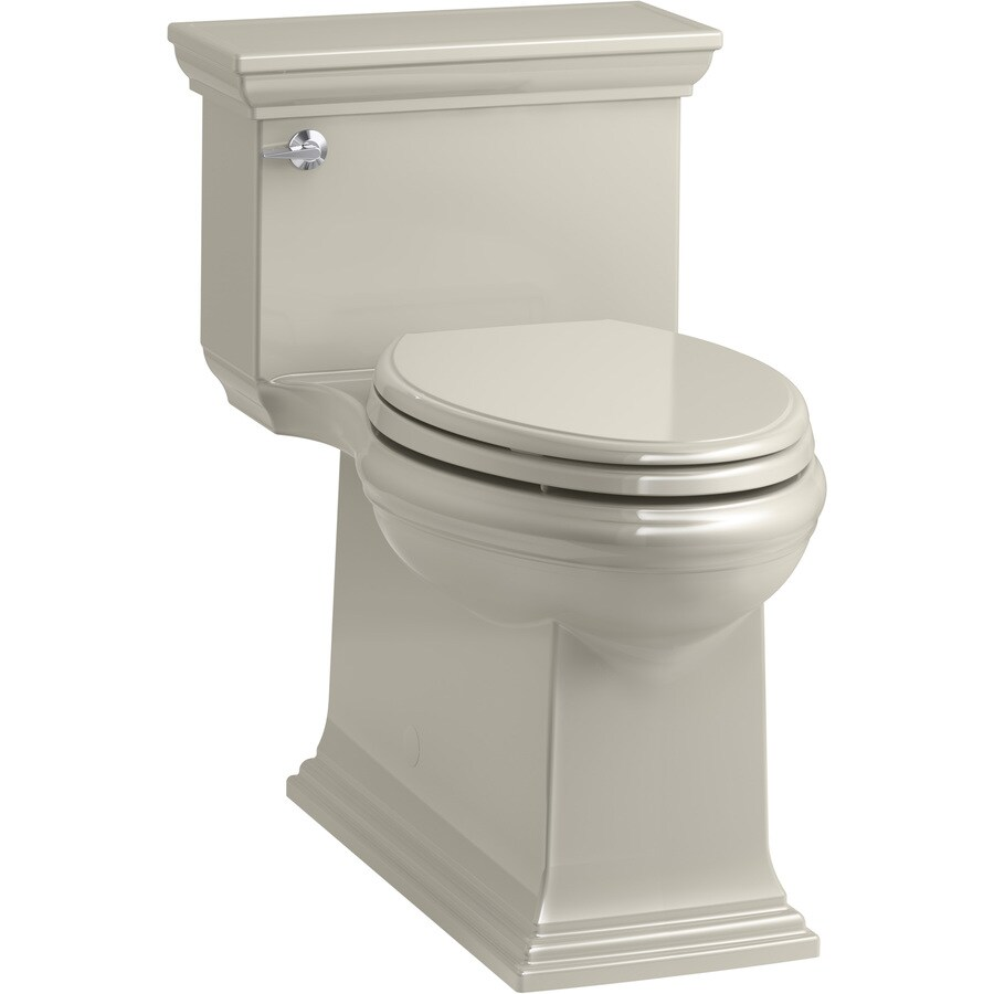 KOHLER Memoirs Sandbar WaterSense Labeled  Compact Elongated Chair Height 1-piece Toilet 12-in Rough-In Size