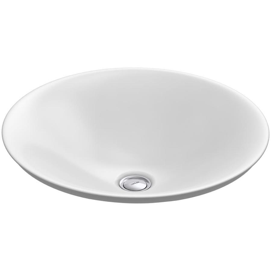 Kohler carillon white vessel rectangular bathroom sink at - Rectangular vessel bathroom sinks ...